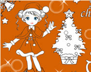 Christmas girl painting j�t�k