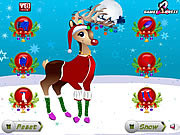 Christmas reindeer dress up online játék