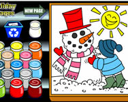 Winter holiday coloring pages online játék